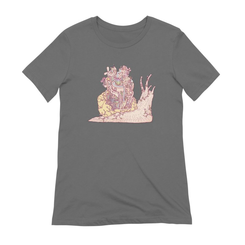 slow happy garden Women's Extra Soft T-Shirt by makapa's Artist Shop