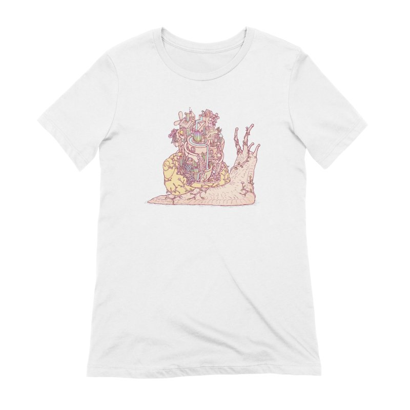slow happy garden Women's Extra Soft T-Shirt by makapa's Artist Shop