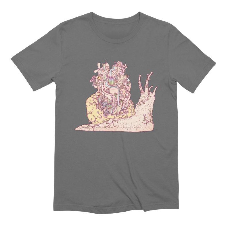 slow happy garden Men's T-Shirt by makapa's Artist Shop