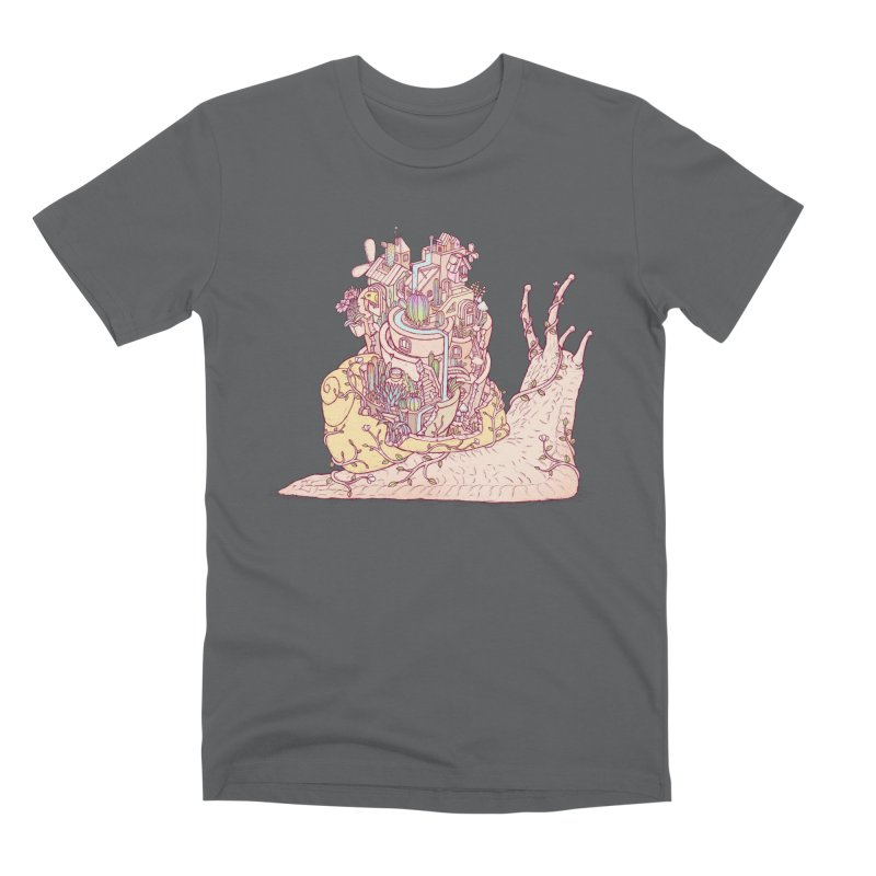 slow happy garden Men's Premium T-Shirt by makapa's Artist Shop