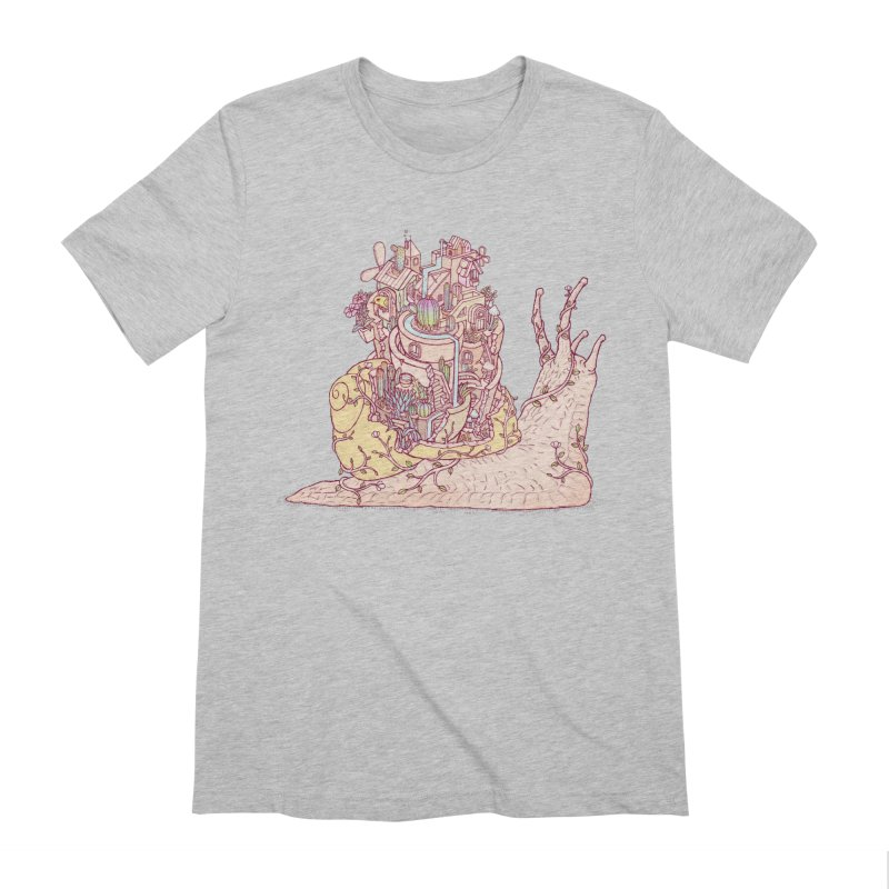 slow happy garden Men's Extra Soft T-Shirt by makapa's Artist Shop
