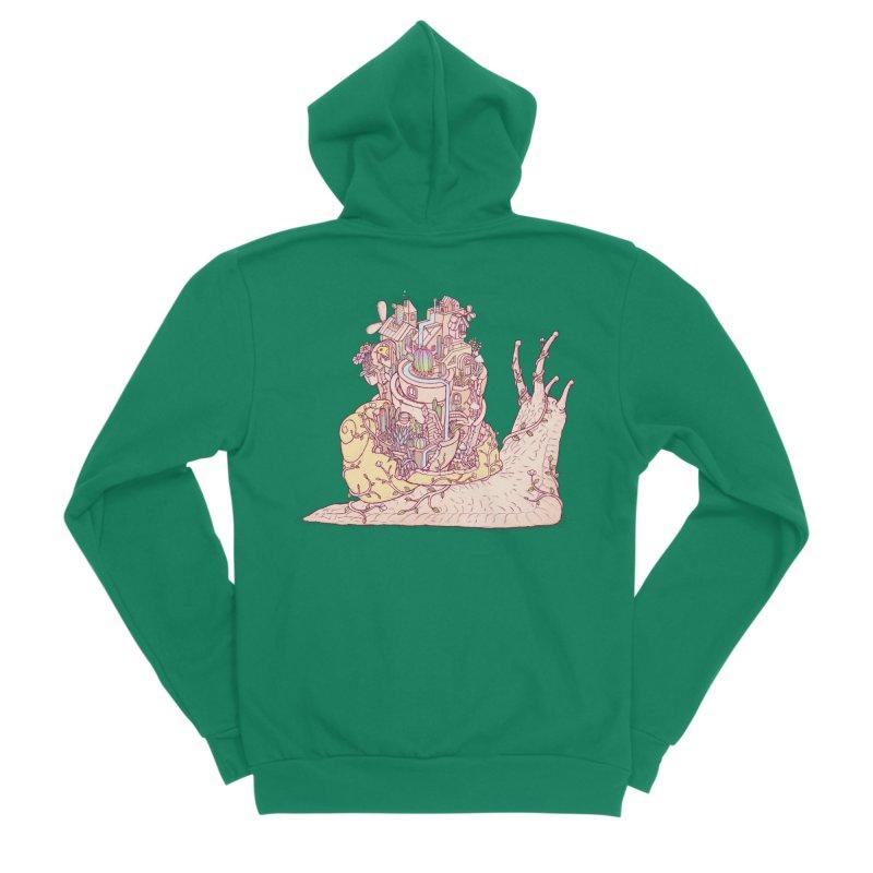 slow happy garden Women's Sponge Fleece Zip-Up Hoody by makapa's Artist Shop