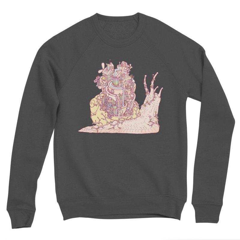 slow happy garden Men's Sponge Fleece Sweatshirt by makapa's Artist Shop