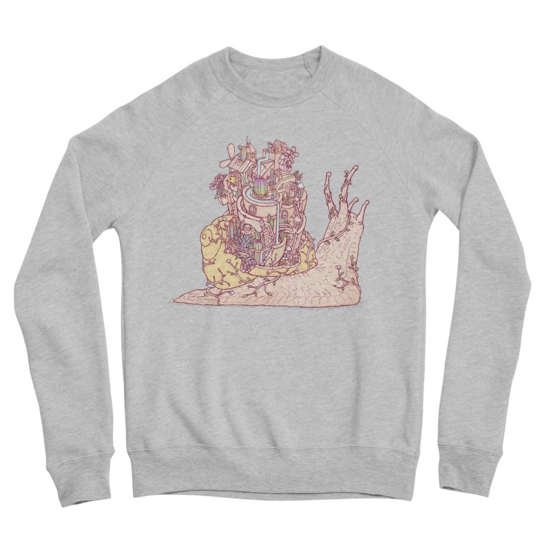 slow happy garden Men's Sponge Fleece Sweatshirt by makapa's Artist Shop