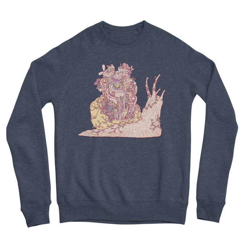 slow happy garden Women's Sponge Fleece Sweatshirt by makapa's Artist Shop