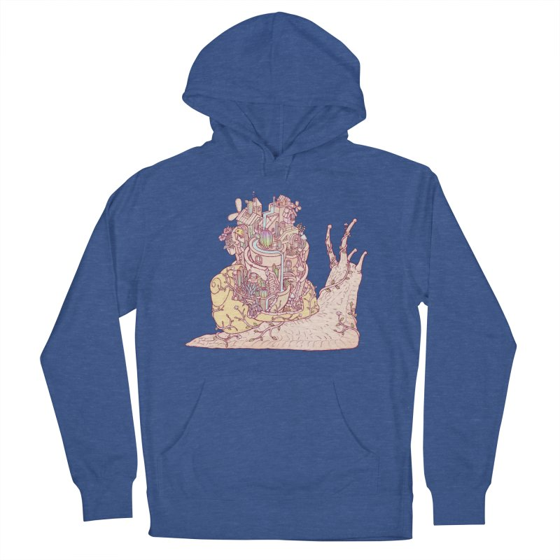 slow happy garden Men's French Terry Pullover Hoody by makapa's Artist Shop