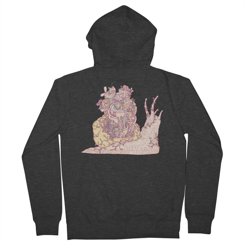 slow happy garden Men's French Terry Zip-Up Hoody by makapa's Artist Shop