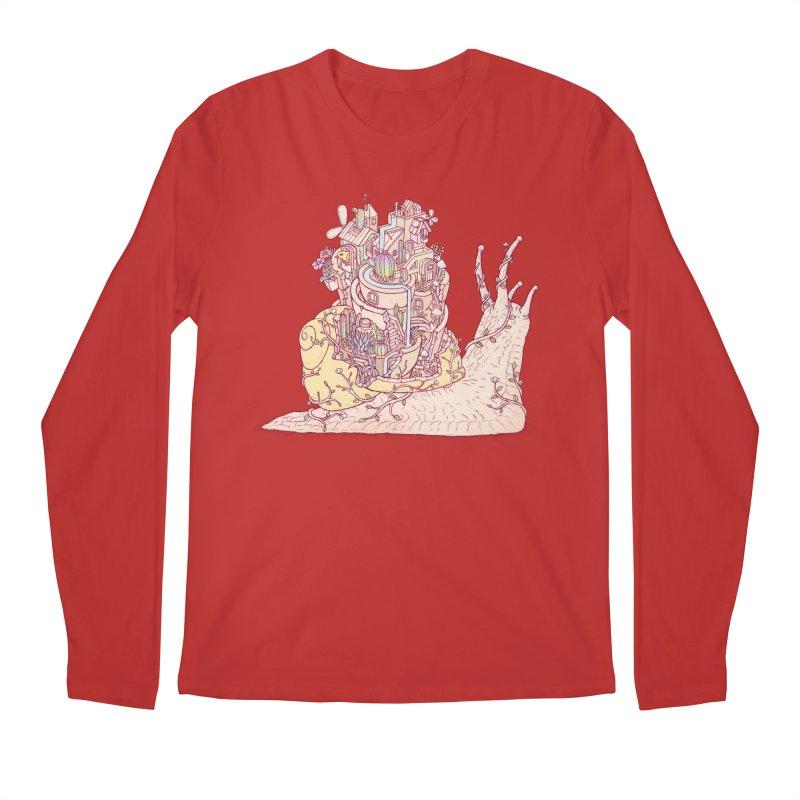 slow happy garden Men's Regular Longsleeve T-Shirt by makapa's Artist Shop