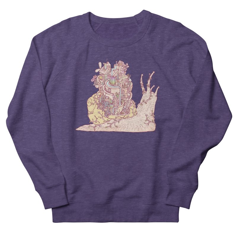slow happy garden Men's French Terry Sweatshirt by makapa's Artist Shop