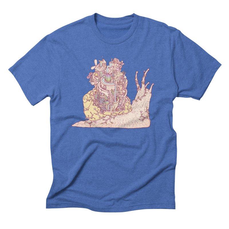 slow happy garden Men's Triblend T-Shirt by makapa's Artist Shop