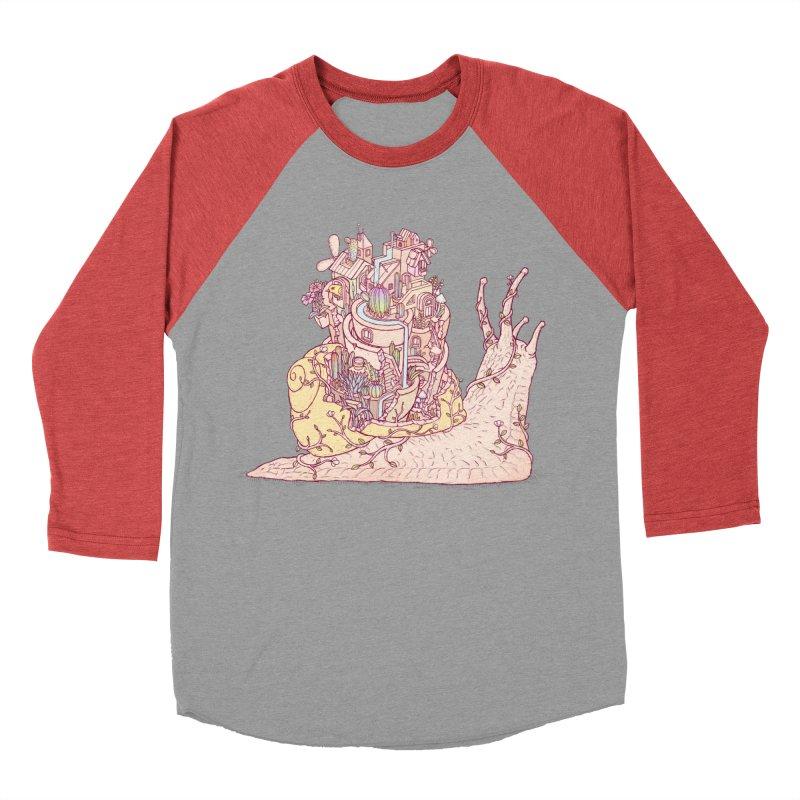 slow happy garden Men's Baseball Triblend Longsleeve T-Shirt by makapa's Artist Shop