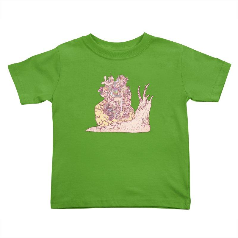 slow happy garden Kids Toddler T-Shirt by makapa's Artist Shop