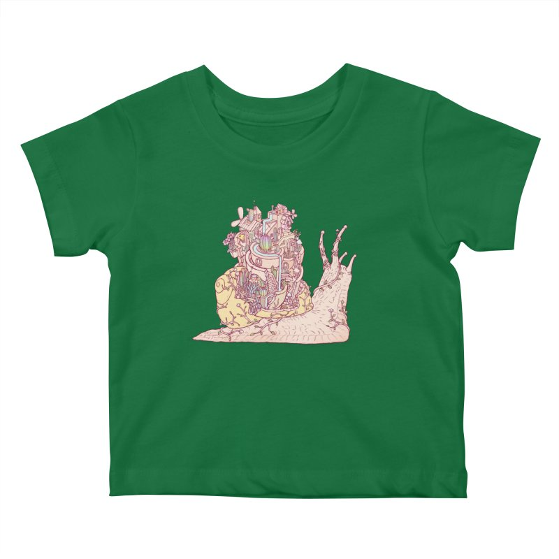 slow happy garden Kids Baby T-Shirt by makapa's Artist Shop