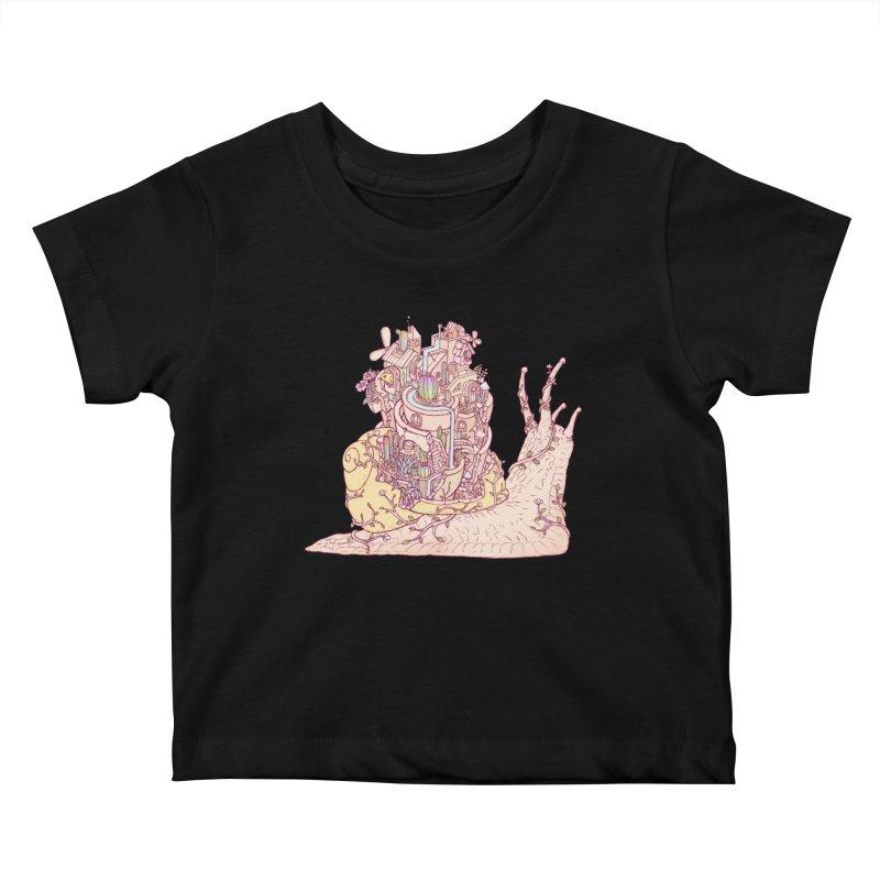 slow happy garden Kids Baby T-Shirt by makapa's Artist Shop