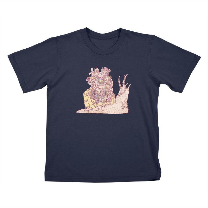 slow happy garden Kids T-Shirt by makapa's Artist Shop