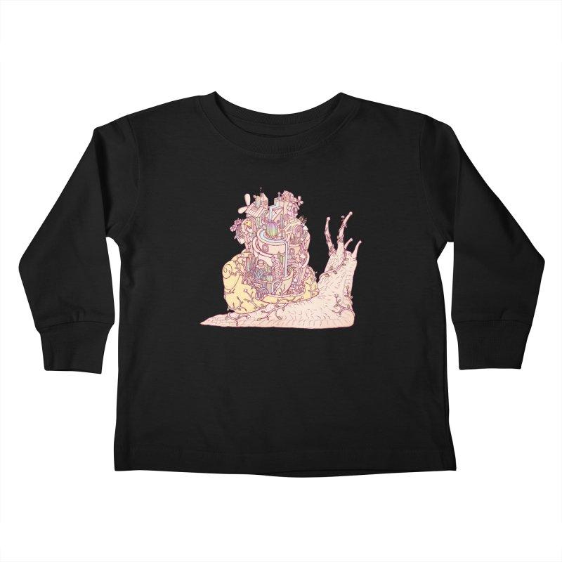 slow happy garden Kids Toddler Longsleeve T-Shirt by makapa's Artist Shop