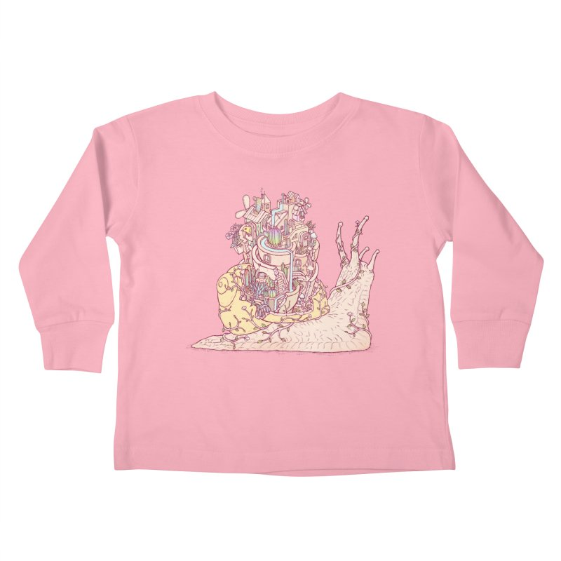slow happy garden Kids Toddler Longsleeve T-Shirt by makapa's Artist Shop