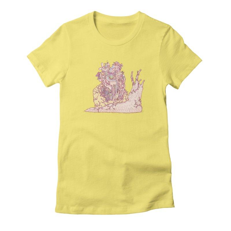 slow happy garden Women's Fitted T-Shirt by makapa's Artist Shop