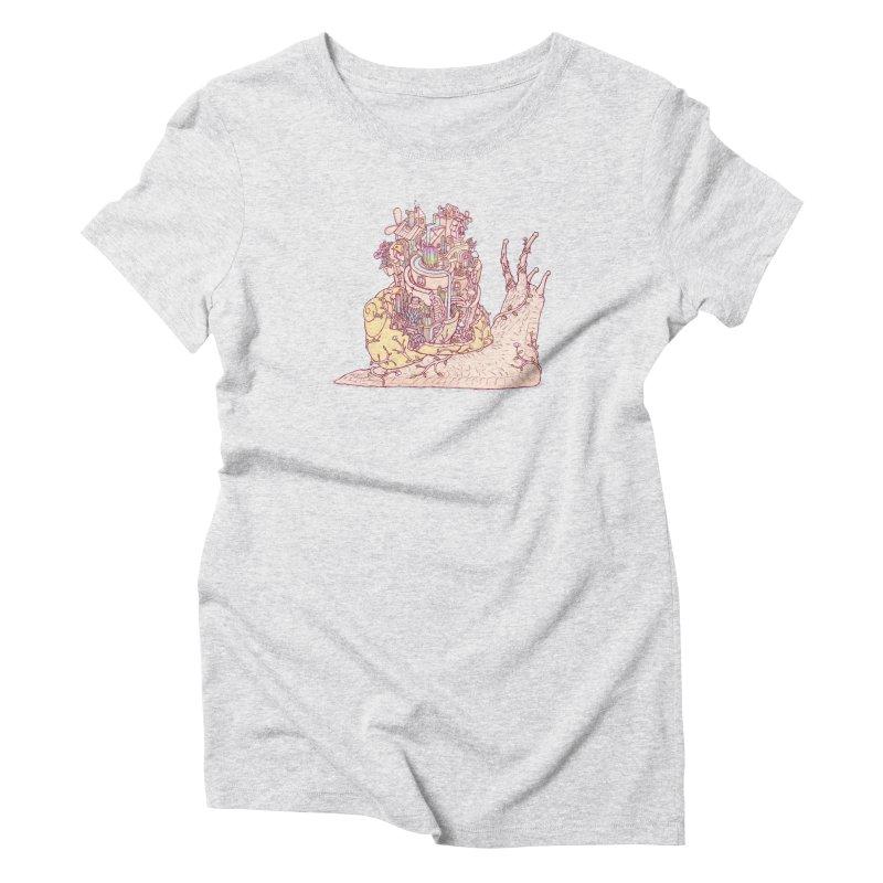 slow happy garden Women's Triblend T-Shirt by makapa's Artist Shop