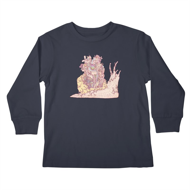 slow happy garden Kids Longsleeve T-Shirt by makapa's Artist Shop