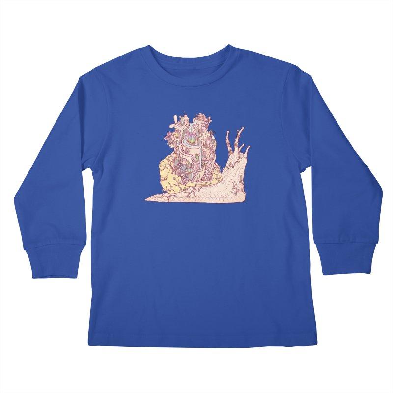 slow happy garden Kids Longsleeve T-Shirt by makapa's Artist Shop