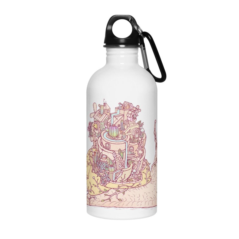 slow happy garden Accessories Water Bottle by makapa's Artist Shop