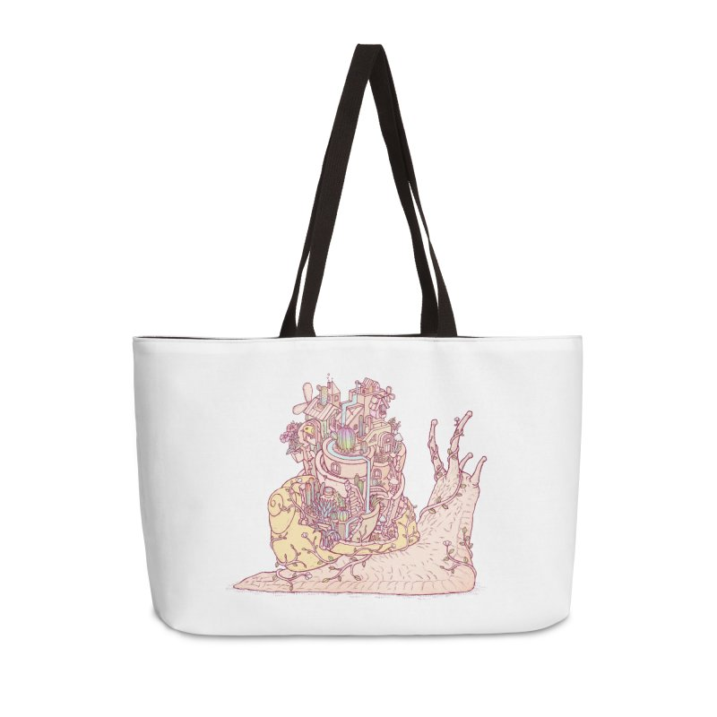 slow happy garden Accessories Weekender Bag Bag by makapa's Artist Shop