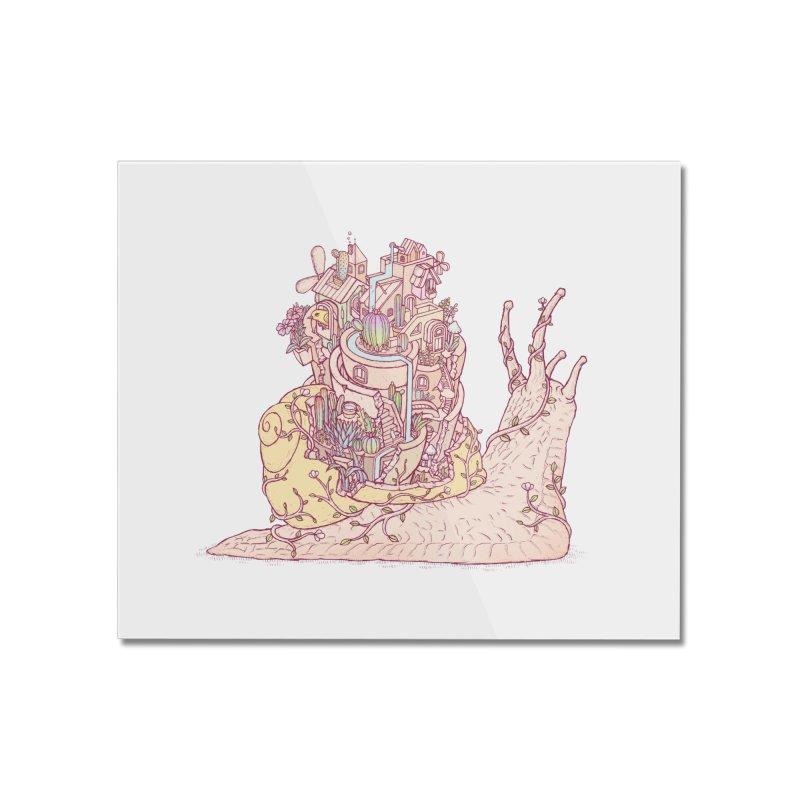 slow happy garden Home Mounted Acrylic Print by makapa's Artist Shop