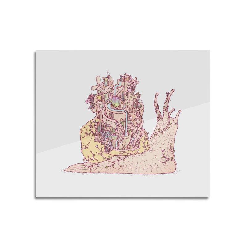 slow happy garden Home Mounted Aluminum Print by makapa's Artist Shop