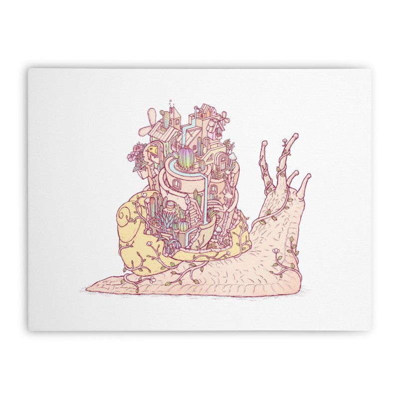slow happy garden Home Stretched Canvas by makapa's Artist Shop