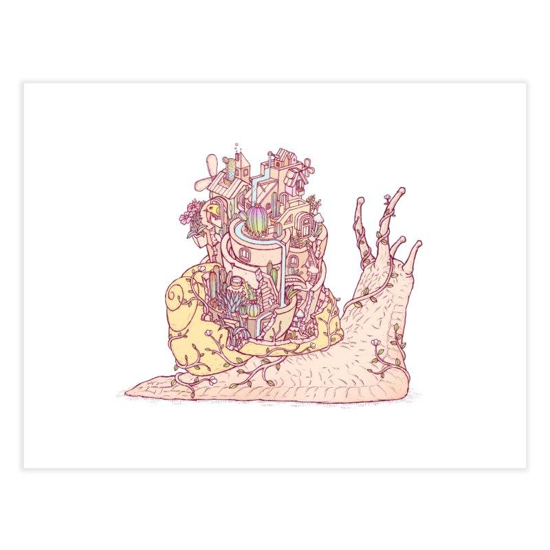 slow happy garden Home Fine Art Print by makapa's Artist Shop