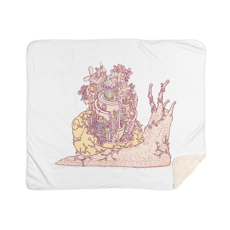 slow happy garden Home Sherpa Blanket Blanket by makapa's Artist Shop