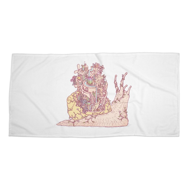 slow happy garden Accessories Beach Towel by makapa's Artist Shop