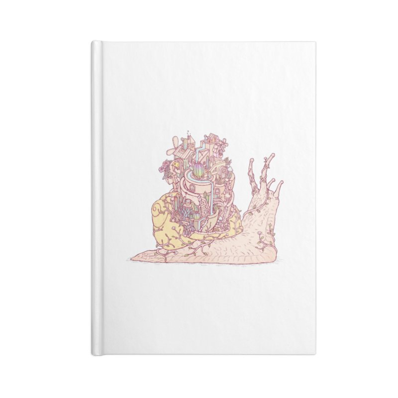 slow happy garden Accessories Lined Journal Notebook by makapa's Artist Shop