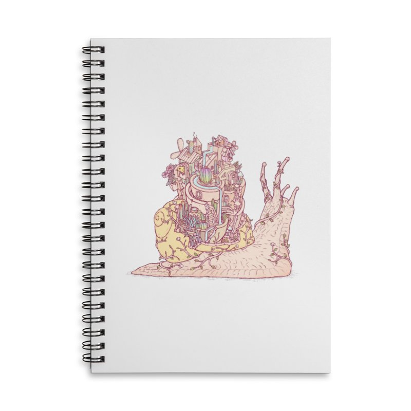 slow happy garden Accessories Lined Spiral Notebook by makapa's Artist Shop