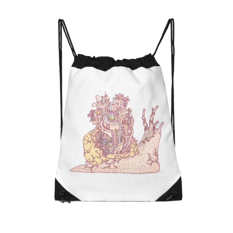 slow happy garden Accessories Drawstring Bag Bag by makapa's Artist Shop