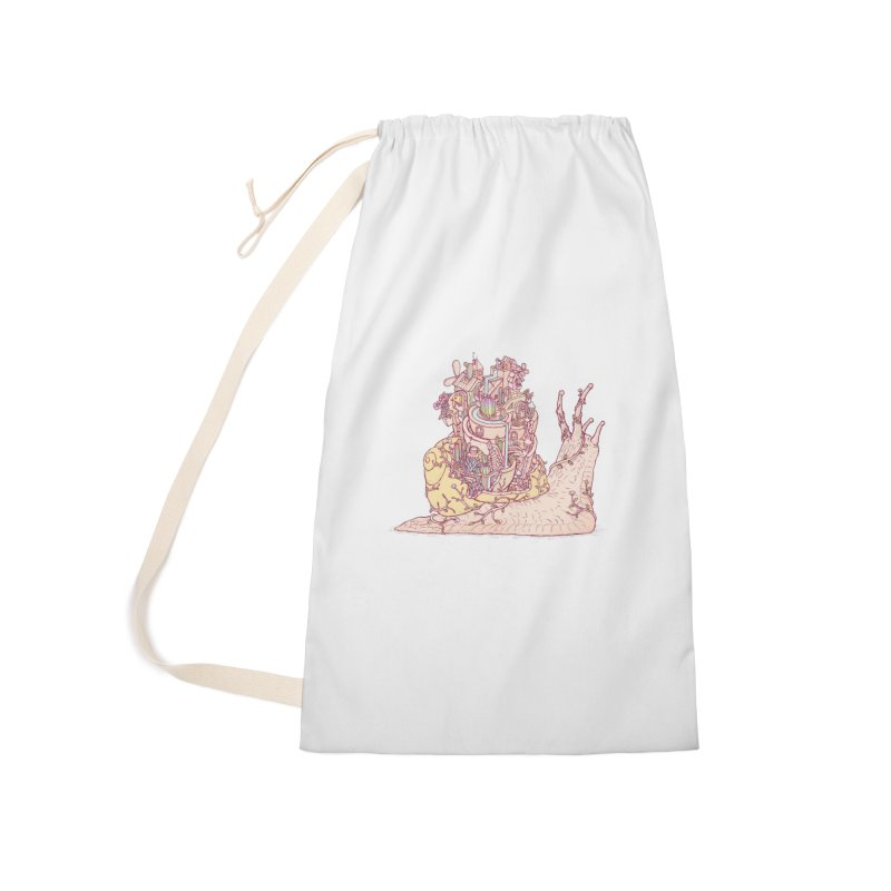 slow happy garden Accessories Laundry Bag Bag by makapa's Artist Shop