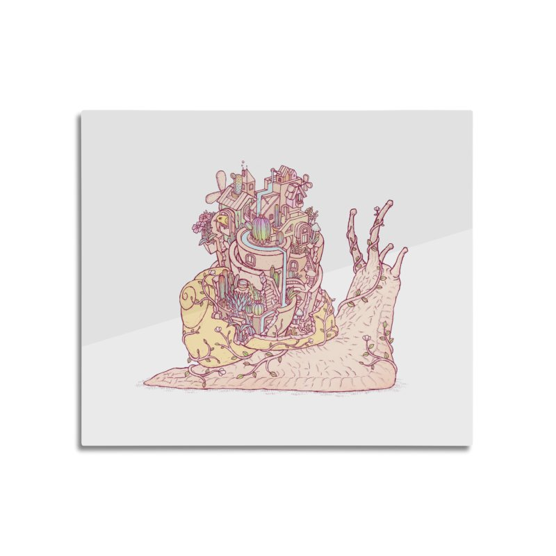 slow happy garden Home Mounted Aluminum Print by makapa's Artist Shop