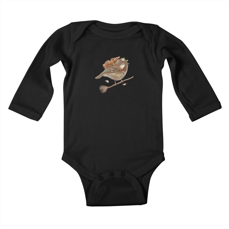 back to school Kids Baby Longsleeve Bodysuit by makapa's Artist Shop