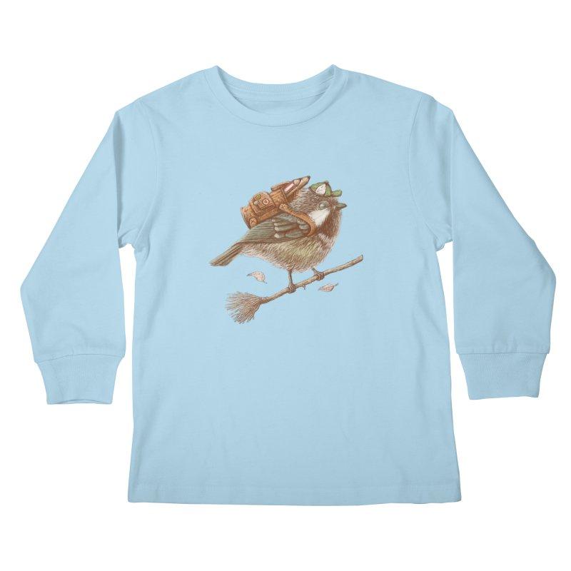 back to school Kids Longsleeve T-Shirt by makapa's Artist Shop