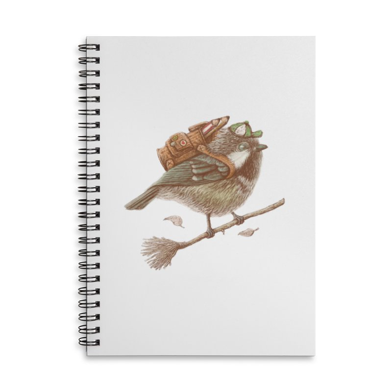 back to school Accessories Lined Spiral Notebook by makapa's Artist Shop