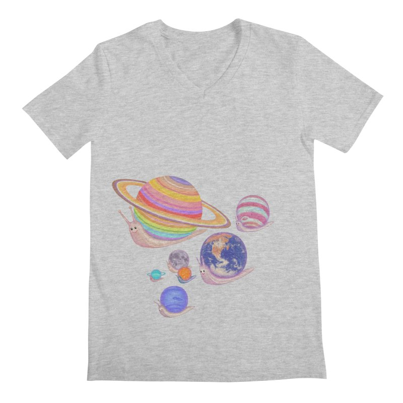 universe walk Men's V-Neck by makapa's Artist Shop