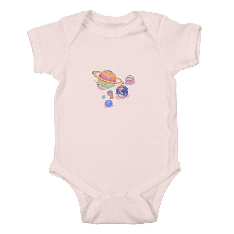 universe walk Kids Baby Bodysuit by makapa's Artist Shop