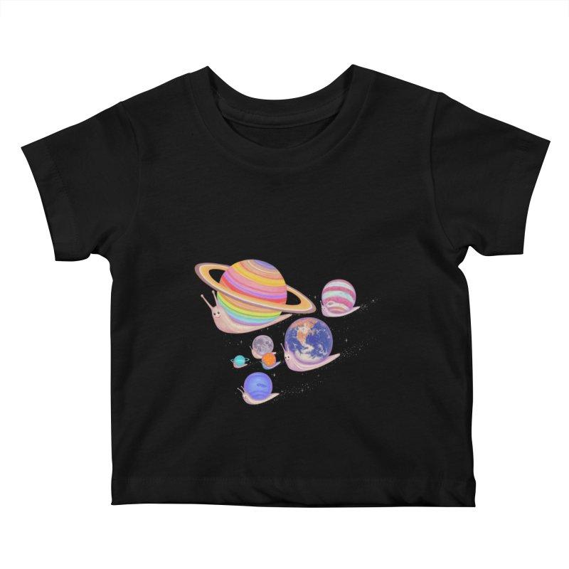 universe walk Kids Baby T-Shirt by makapa's Artist Shop