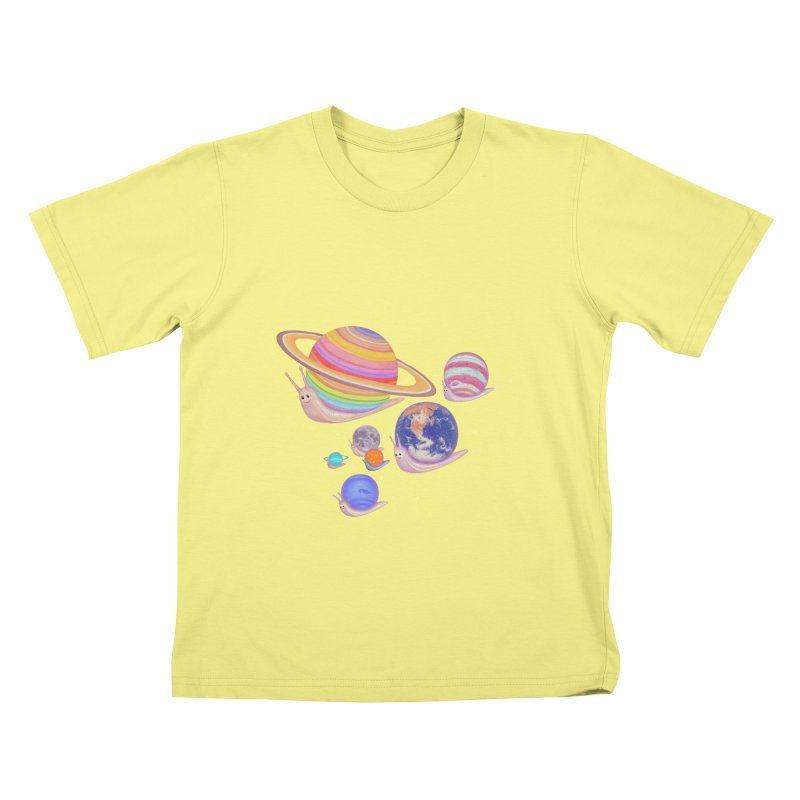 universe walk Kids T-shirt by makapa's Artist Shop