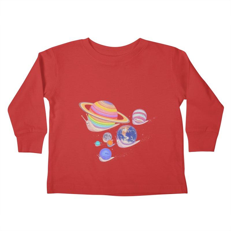 universe walk Kids Toddler Longsleeve T-Shirt by makapa's Artist Shop