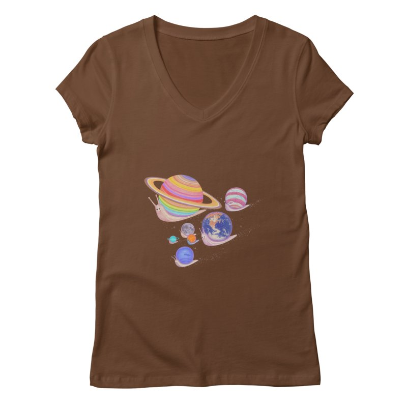 universe walk Women's V-Neck by makapa's Artist Shop