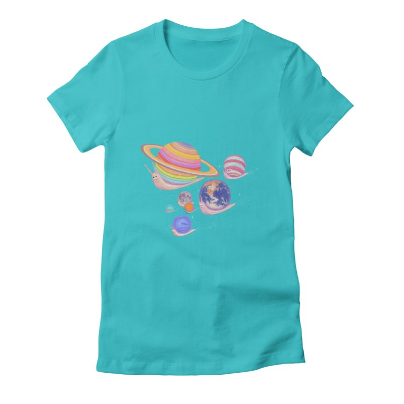 universe walk Women's Fitted T-Shirt by makapa's Artist Shop