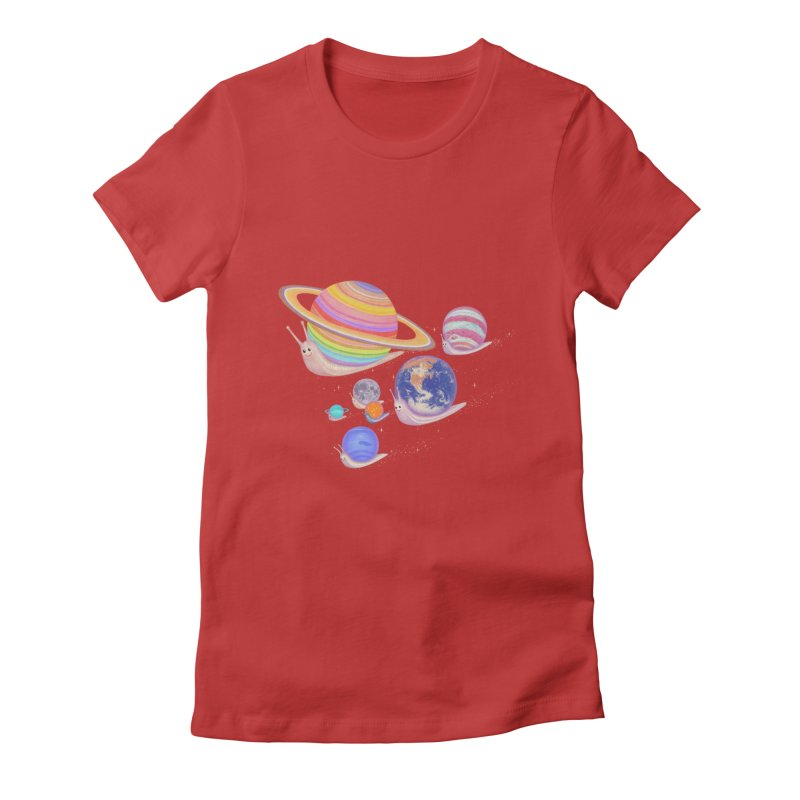 universe walk Women's Fitted T-Shirt by makapa's Artist Shop