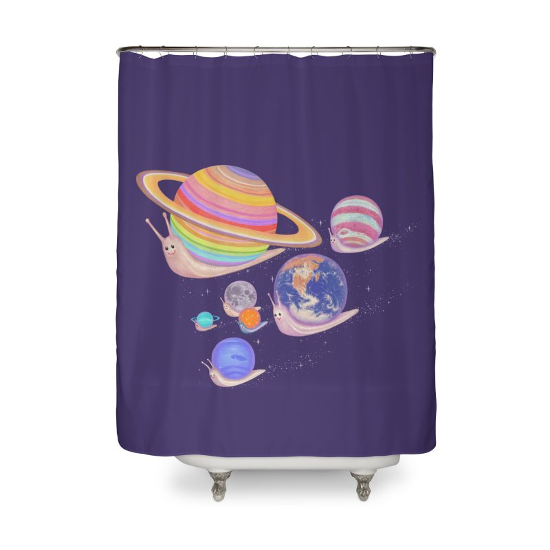 universe walk Home Shower Curtain by makapa's Artist Shop